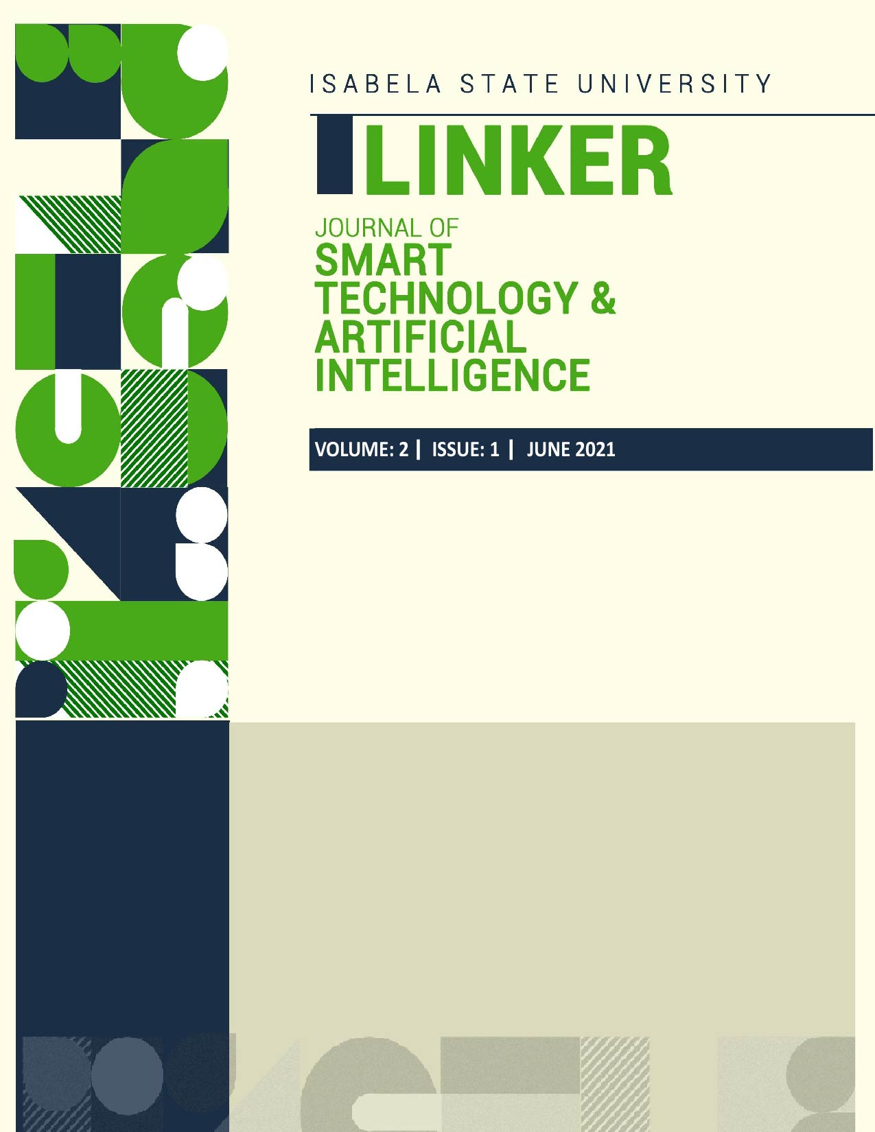 View Vol. 2 No. 1 (2021): The Journal of Smart Technology and Artificial Intelligence
